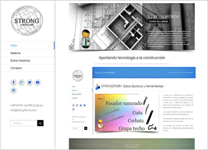 Proyecto de Marketing Digital y Diseño Web para Strong Forms