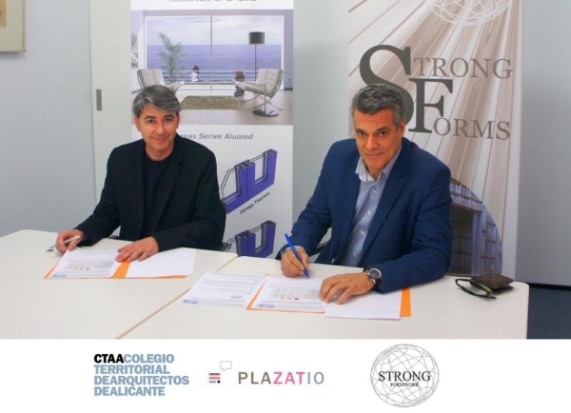 Strong Forms y Plazatio, firma convenio colaboración