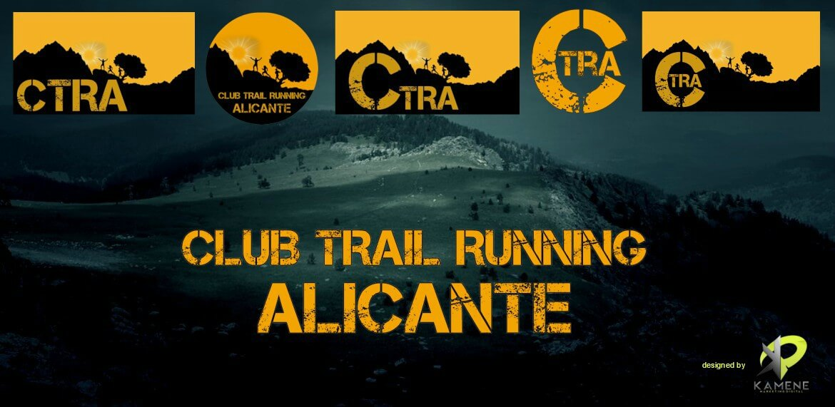 club trail running alicante diseno logo branding diseno grafico proyecto portfolio agencia marketing digital online kamene projects