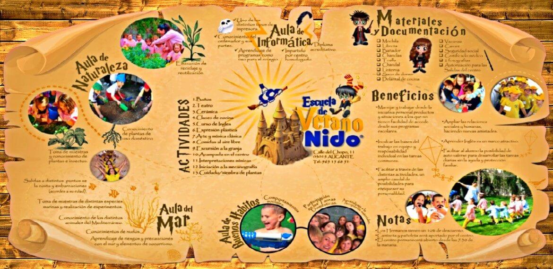 nido escuela infantil verano diseño grafico imagen portfolio agencia marketing digital online alicante kamene projects