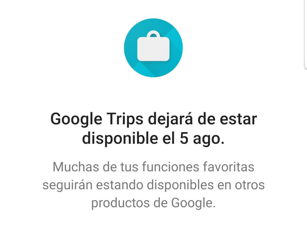 google trips cierra app planificacion viajes marketing digital alicante aviso