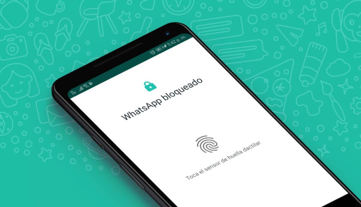 como activar el bloqueo con huella dactilar de whatsapp privacidad portada